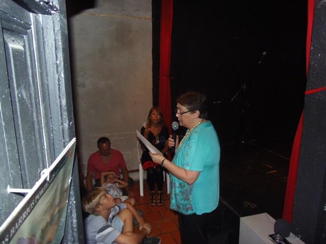 Homenaje Cabal 26 feb 2015_Gloria Candiotti con nuevos aspectos de la obra de Graciela Cabal